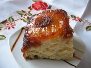 IMG 7986 resize 300x225 Prăjitură cu ananas rasturnata (pineapple upside down cake)