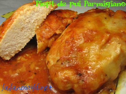 Piept de pui Parmigiano